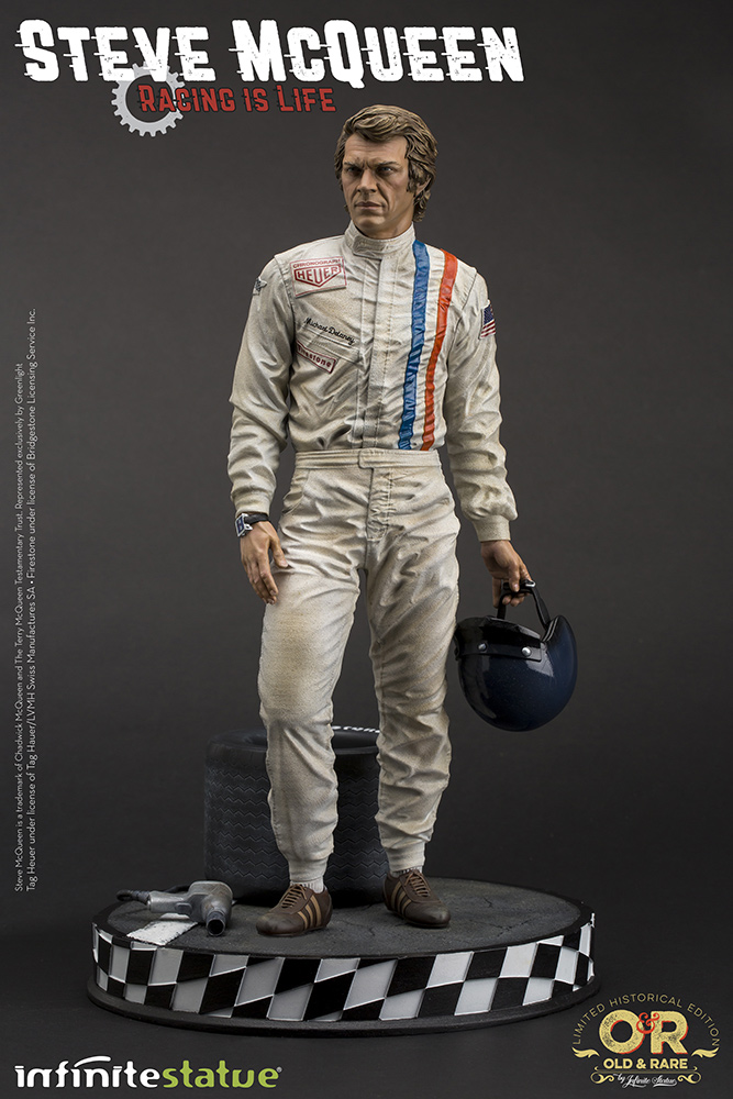 Steve McQueen Racing is Life Old & Rare 1/6 Statue by Infinite Statue